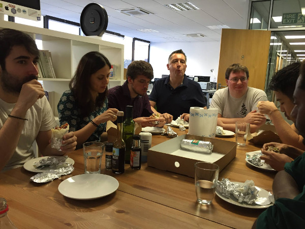 Team lunch with Daddy Donkey burritos - Yum!